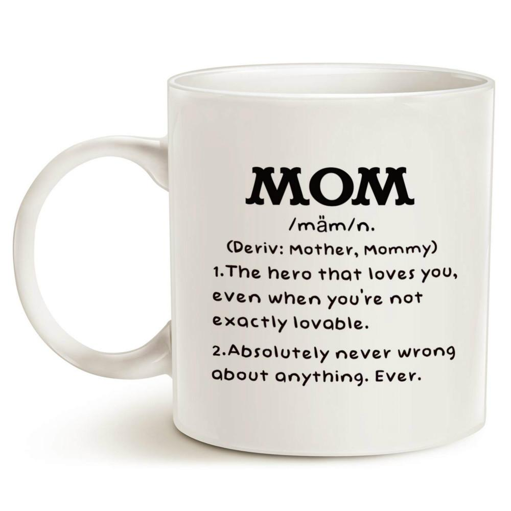 MotherS Day Gifts Mom Definition Funny Coffee Mug Christmas Or Birthday Gift Idea For Porcelain Cup White 11 Oz Thin Mugs To Go From