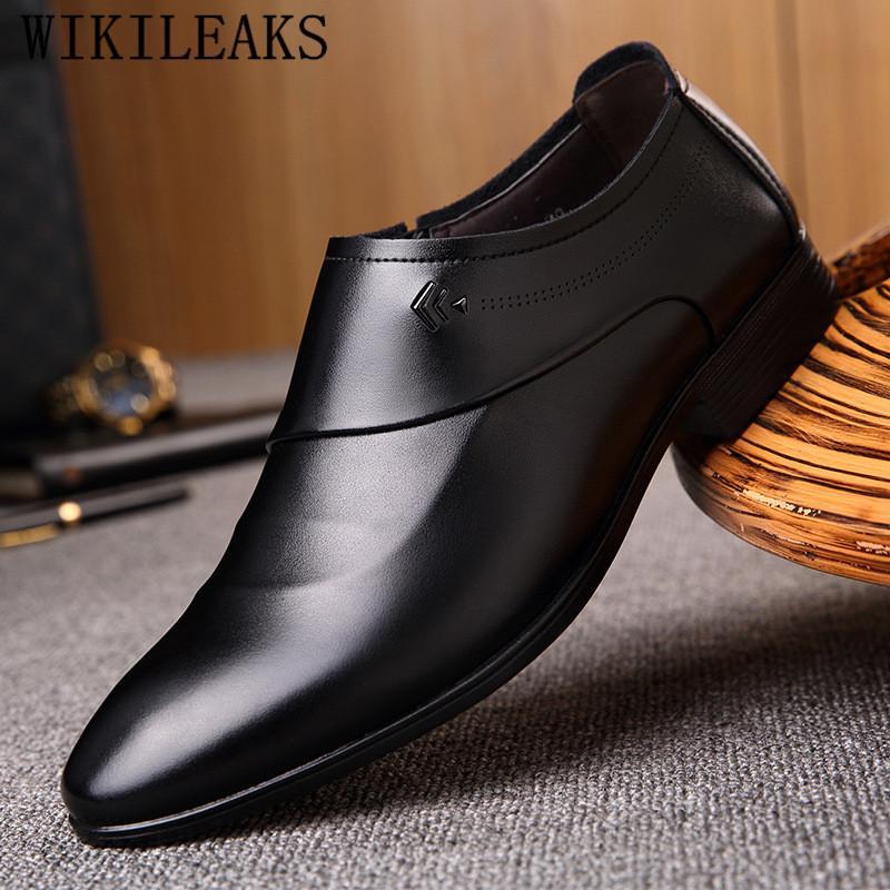 105e1c9d4238f Compre Marca De Lujo Italiana Zapatos Oxford De Cuero Para Los Hombres  Zapatos De Vestir Oficina De Boda Formal Hombres Mocasines Sapato Social  Masculino A ...