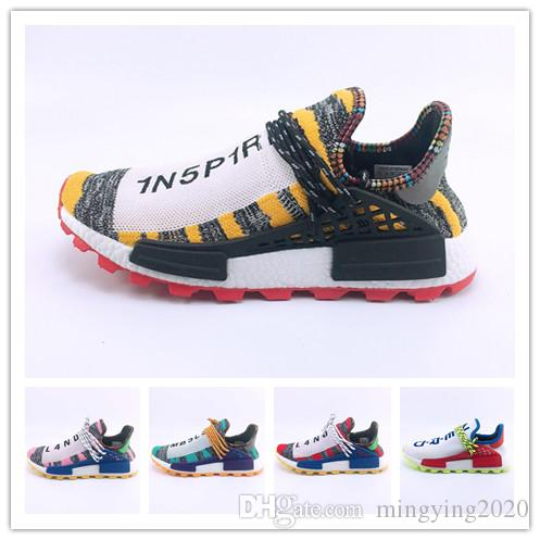 sélection premium 55beb 3d03c Human Race 3.0 Mens Running Shoes Men Casual Pharrell Williams V3 Women  Outdoor Superstar Athletic Hot Hiking Jogging Sports Sneakers