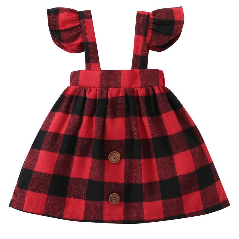 7b01c5bbfa Red Checkered Baby Girls Skirts Kids Toddler's Overalls Skirt for Fall  Spring Children's Clothing Clothes