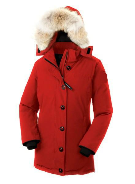 Women Parkas WINTER CANADA down coat Dawson-1 Down & Parkas WITH HOOD/Snowdome jacket Real wolf Collar White Duck/GOOSE Outerwear & Coats