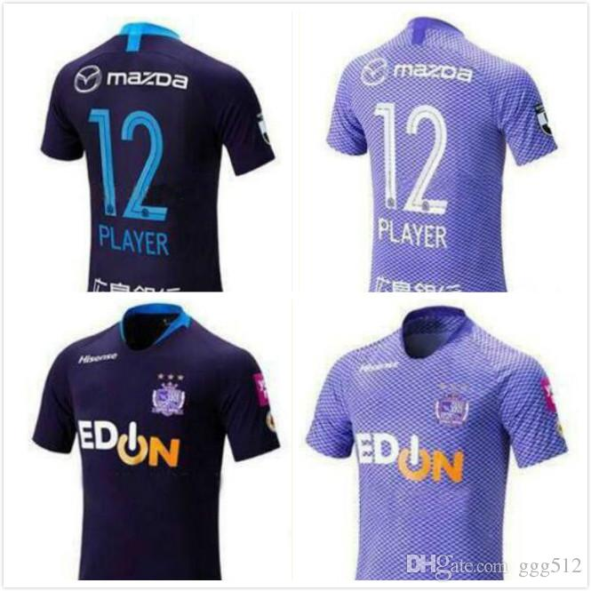 J1 League Sanfrecce Hiroshima Soccer Jerseys 2019 Sanfrecce Hiroshima home purple Soccer Shirt 2019 men Football Uniform