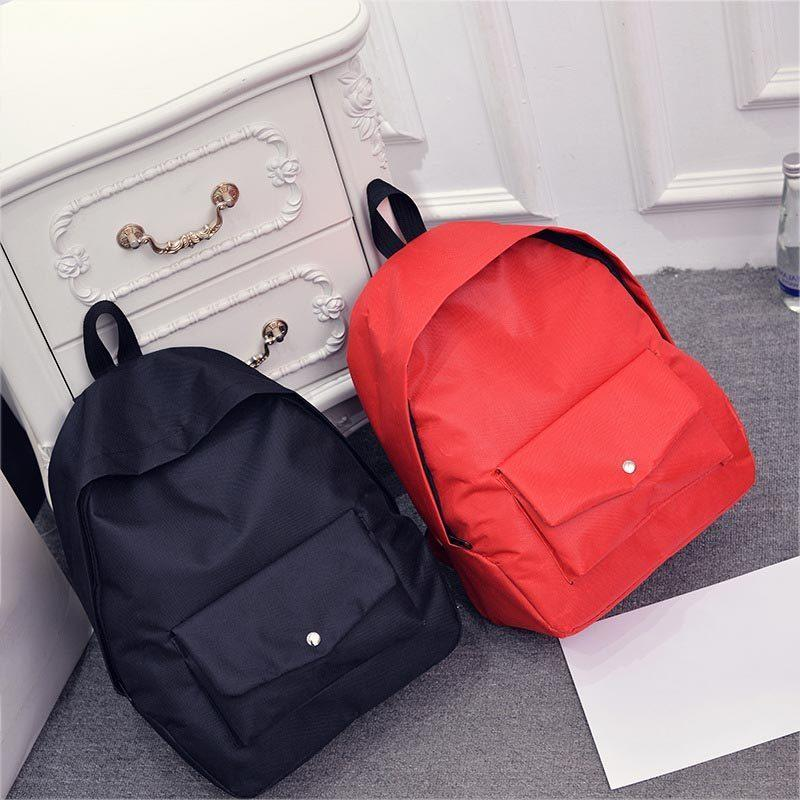 3c4ee14bc011 Simple Fashion Women School Bags Leather Solid Color Vintage Student  Backpack Zipped Ladies Girls Casual Shoulder Bag Fab Laptop Rucksack  Backpacks For ...