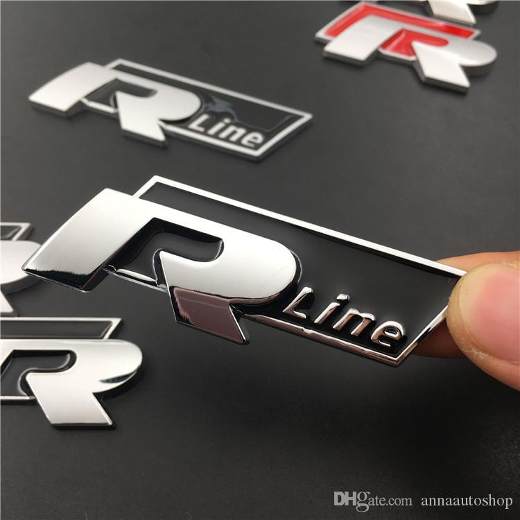 3D Car Accessories Speacial Rline Emblem Car Decals for VW 20pcs Set 3D Metal Car Badge Emblem Stickers
