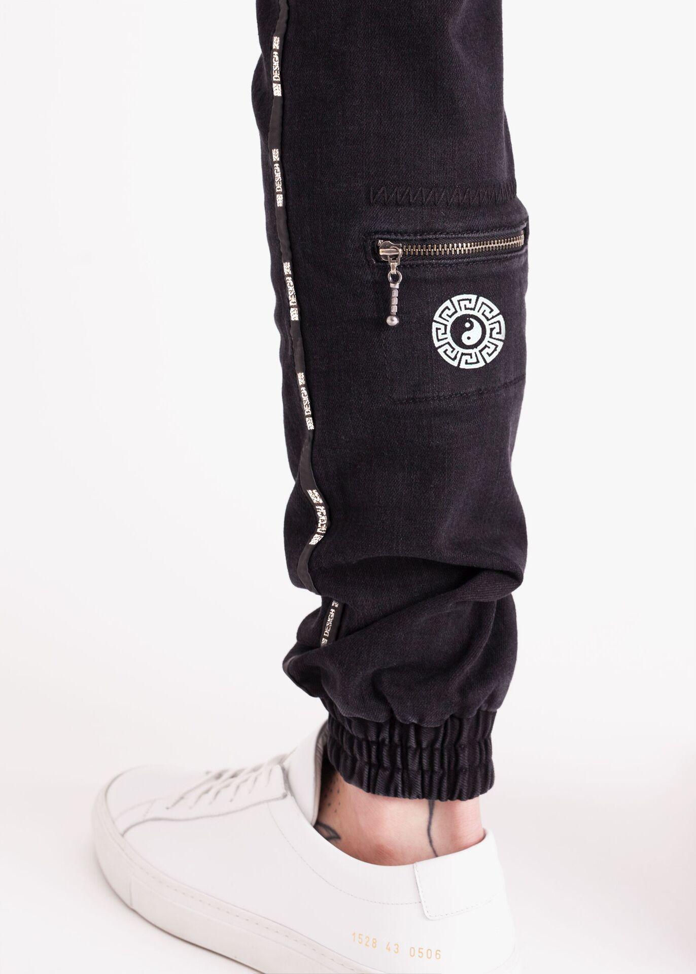 bc2ee244c Compre Tallas Grandes Pantalones Vaqueros De Hombre CALIENTE Explosión  Modelos Jogger Moda Cintura Elástica De Los Hombres Pantalones De Mezclilla  TAMAÑO S ...