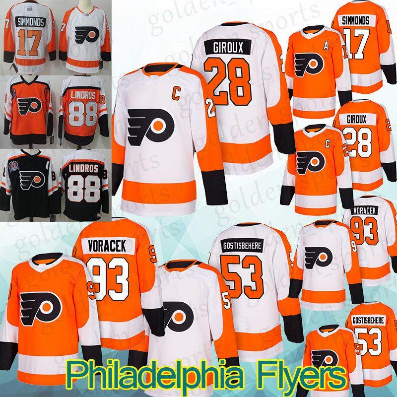 239f2715a8d 2019 Philadelphia Flyers Jerseys 9 Ivan Provorov 17 Wayne Simmonds28 Claude  Giroux 19 Nolan Patrick Ice Hockey Jersey Shirt Long Sleeves From ...