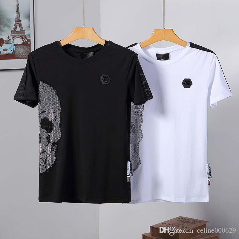 Counter men's short-sleeved T-shirt round neck youth printing silk cotton half-sleeve bottoming shirt summer tide card t-shirt