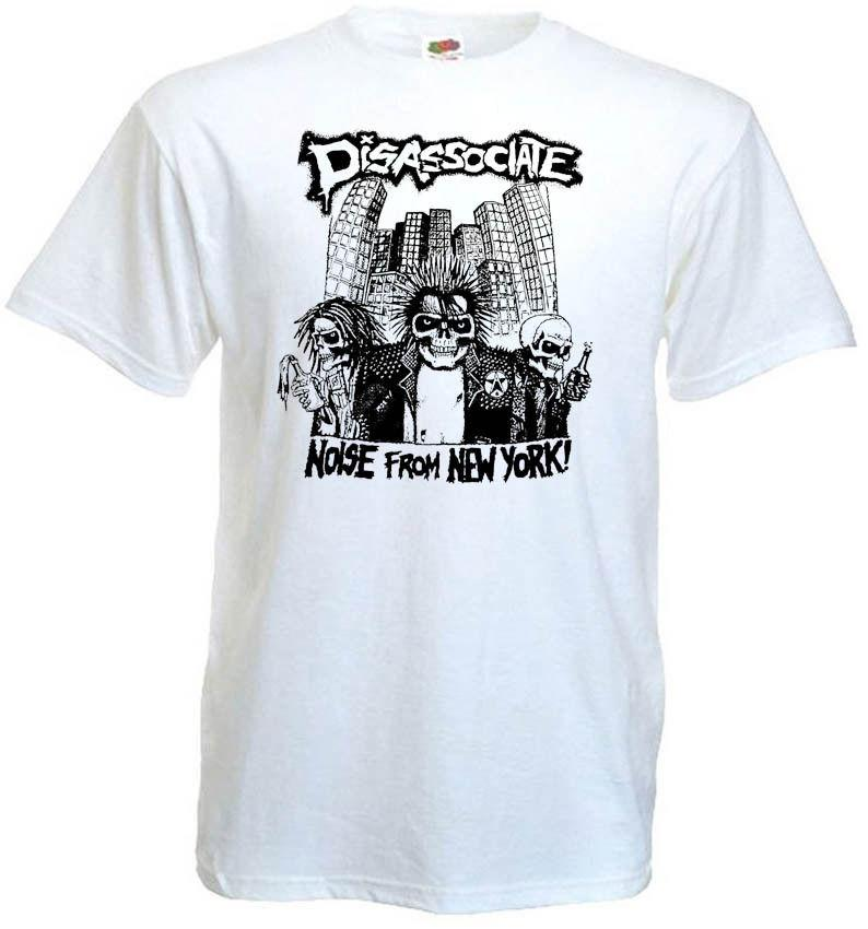Disassociate Noise From New York V9 T Shirt White Hardcore All Sizes Cool T  Shirt Companies 24 Hour T Shirt From Tshirtsdesign49 57f5c55588d