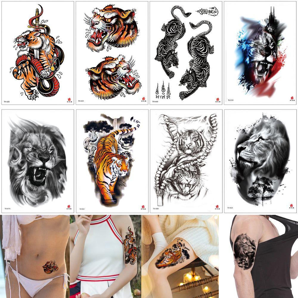 45602b467 Roar Tiger Temporary Tattoo Fashion Waterproof Fake Arm Sleeve Leg Back Body  Art Water Transfer Tattoo Sticker For Male Female Skin Cover 3D NZ 2019  From ...