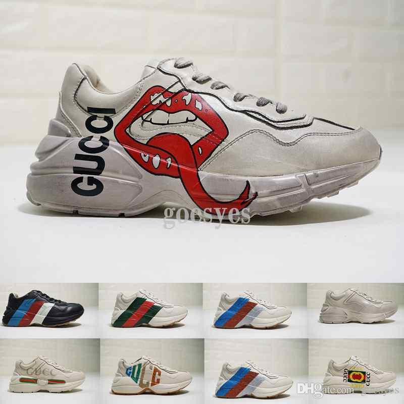 ac3b12674 ... Vintage Shoes Triple S Womens Luxury Designer Brand Sneakers Women Mens  Trainer Running Dad Shoes Zapatos Chaussures From Goesyes