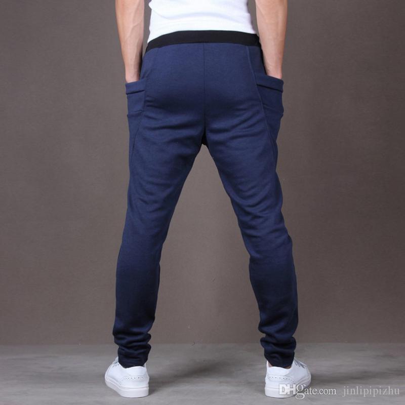 Compre Pantalones Cortos Ajustados De Moda Streetwear Hiphop Hombres  Fitness Pantalones Largos Pantalones De Chándal Ocasionales Pantalones De  Jogger ... 08a7951fa52