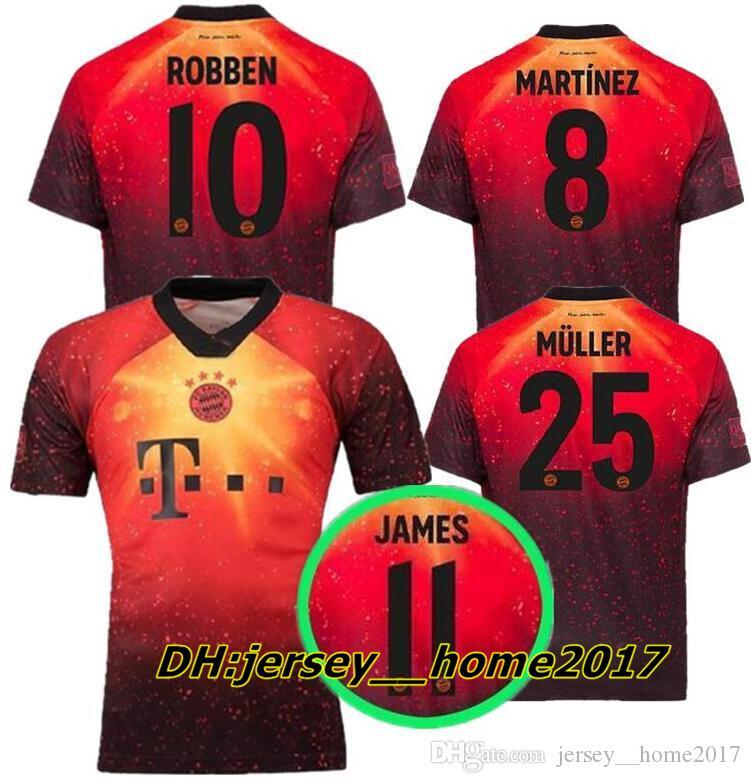 2019 18 19 EA Sports Bayern Munich Soccer Jersey James 2018 2019 KIMMICH  VIDAL LEWANDOWSKI MULLER TOLISSO HUMMELS Kimmich Football Shirts From ... 7853168ec