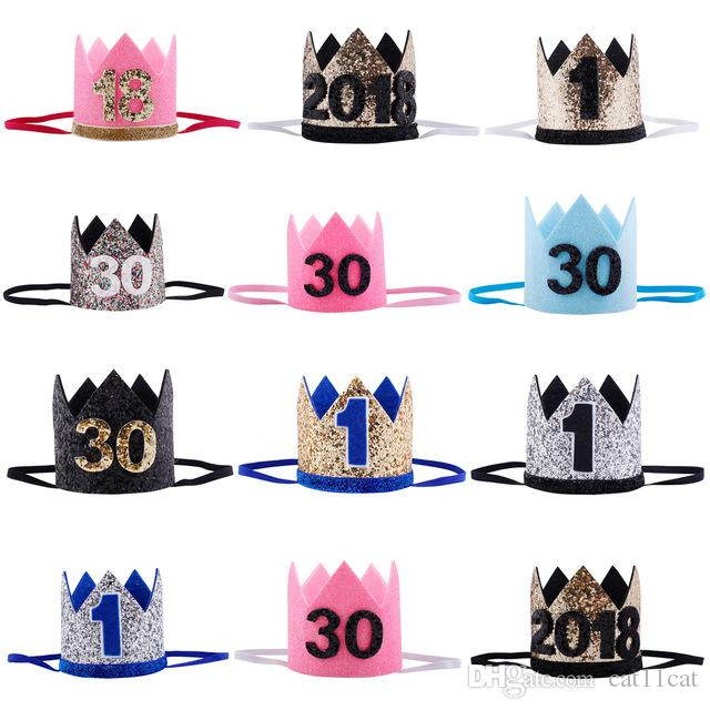 6a37074ba92 1 16 30 Adult Children Birthday Party Hats Girls Kawaii Princess Crown Caps  Women Birthday Cake Caps Photo Props Party Decor UK 2019 From Cat11cat