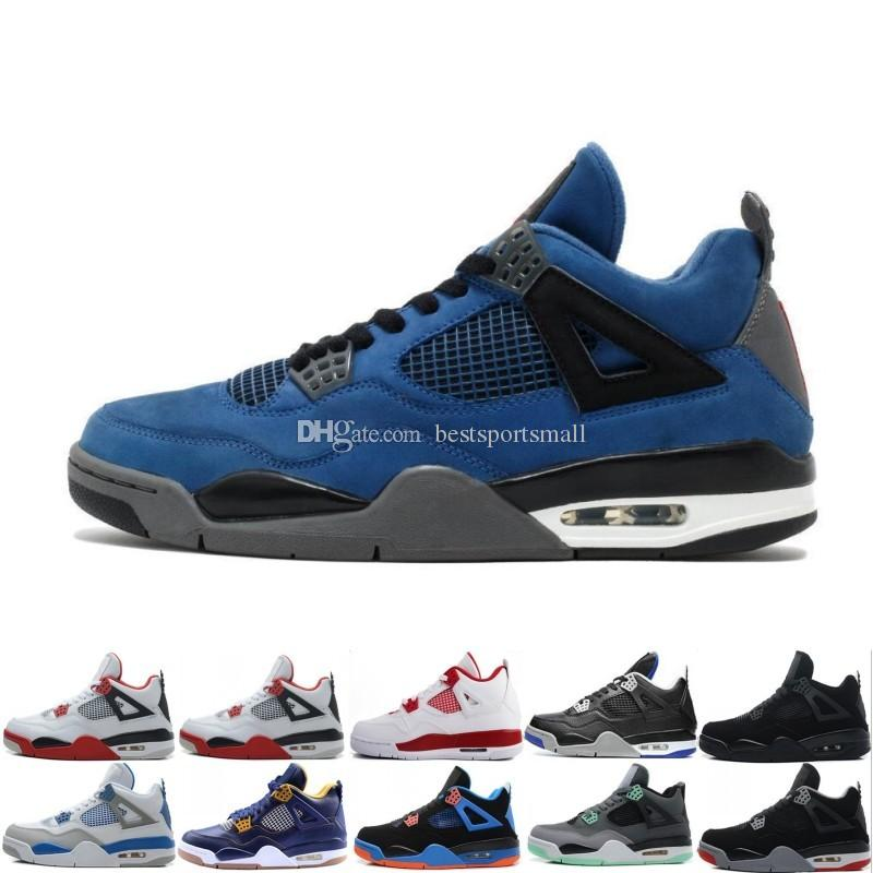 d02c694f6f0b 4 4s Pure Money Basketball Shoes Sneakers For Men Black White Cement Bred  Fear Game Royal Athletic Men Sport Designer Shoes Trainer Scarpe Mens  Basketball ...