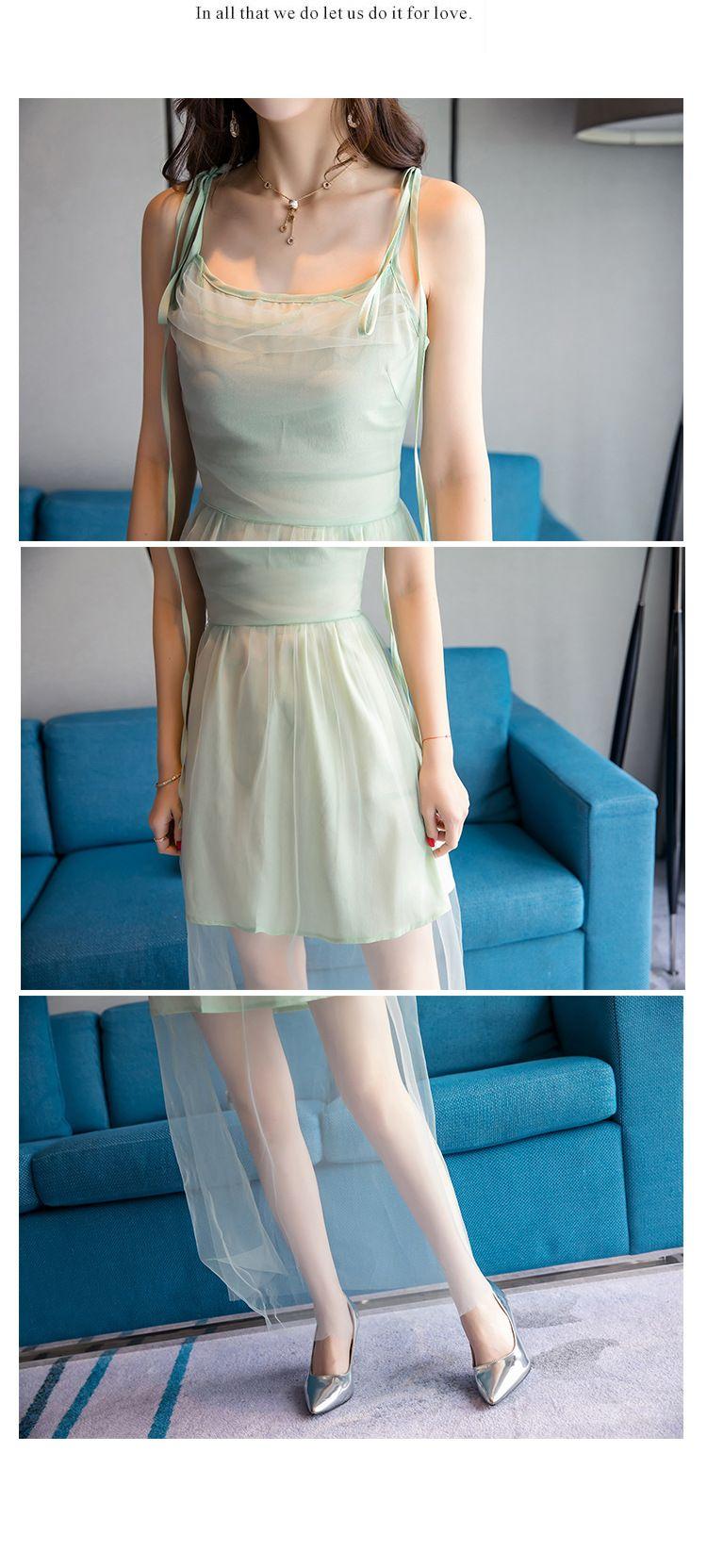 137202c094b New Summer Long Skirt Fairy Gauze Sling Beach Dress Sleeveless Bohemian  Casual Maxi Vacation By Sea A0100 Shop Sundresses White Dresses Party From  ...