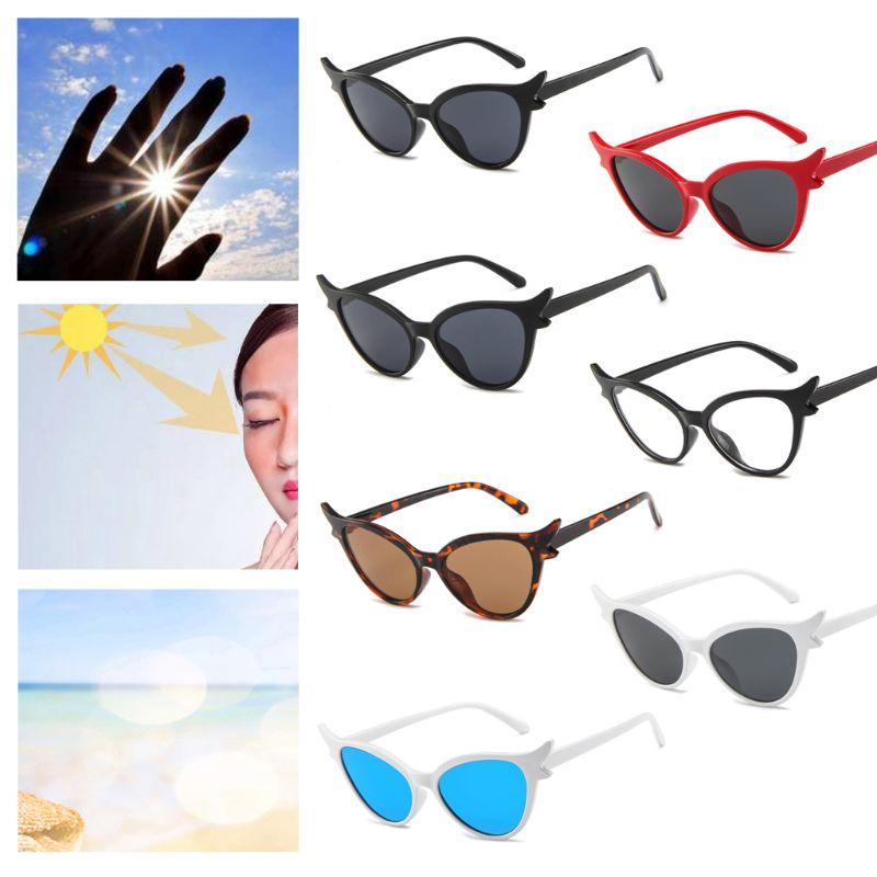 Cat Stylish Lady Eyeglasses Eyewear Sunglasses Women Personality Fashion Protection Wings Glasses Show Eye Uv400 Sun Decorative SzVqMUp