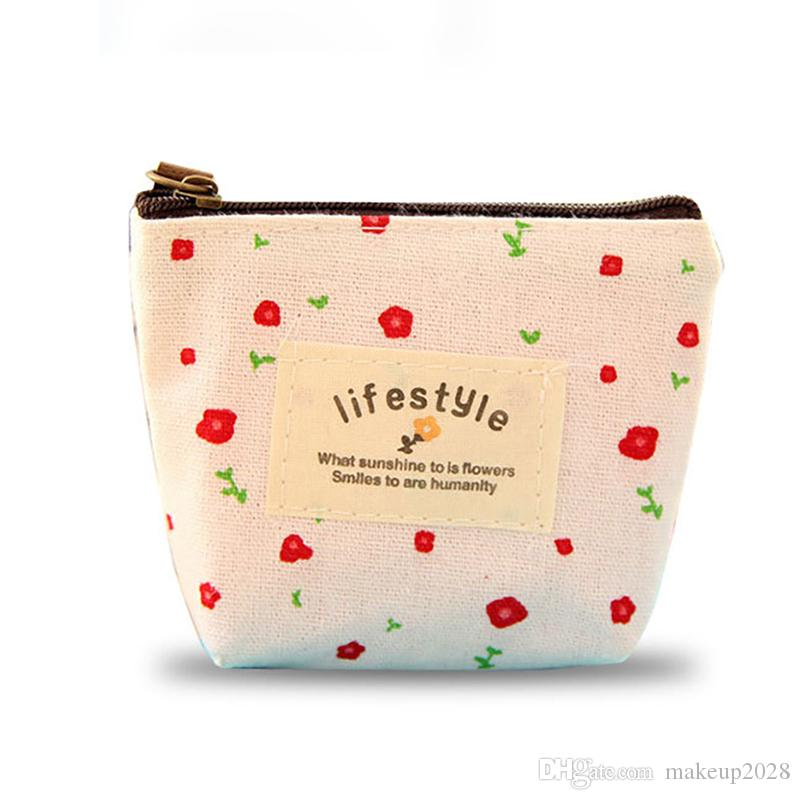 Flower Floral Pencil Pen Canvas Case Cosmetic Small Makeup Tool Bag Storage  Pouch Purse Free DHL 382
