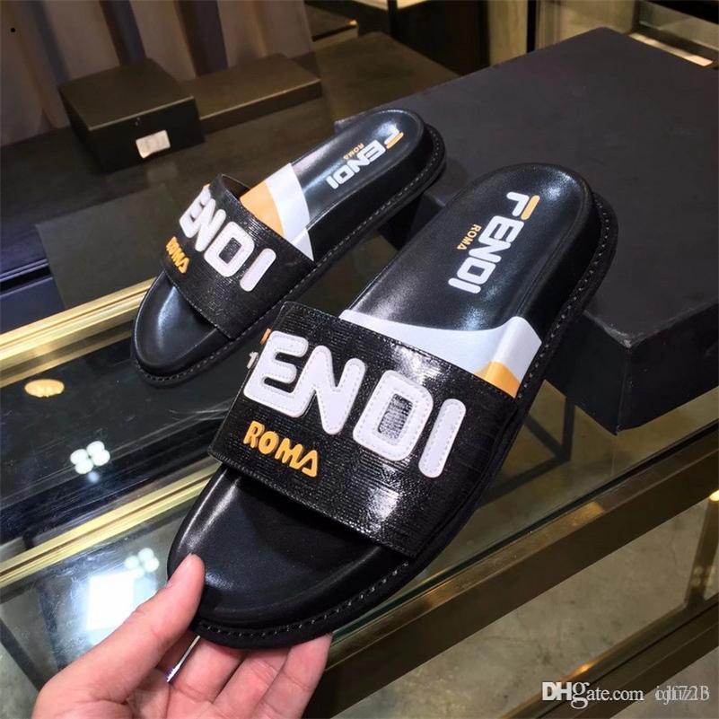 Best Flip Flops 2020 2020 Leather Slide Sandals Slippers Men Women Hot Tiger Designers