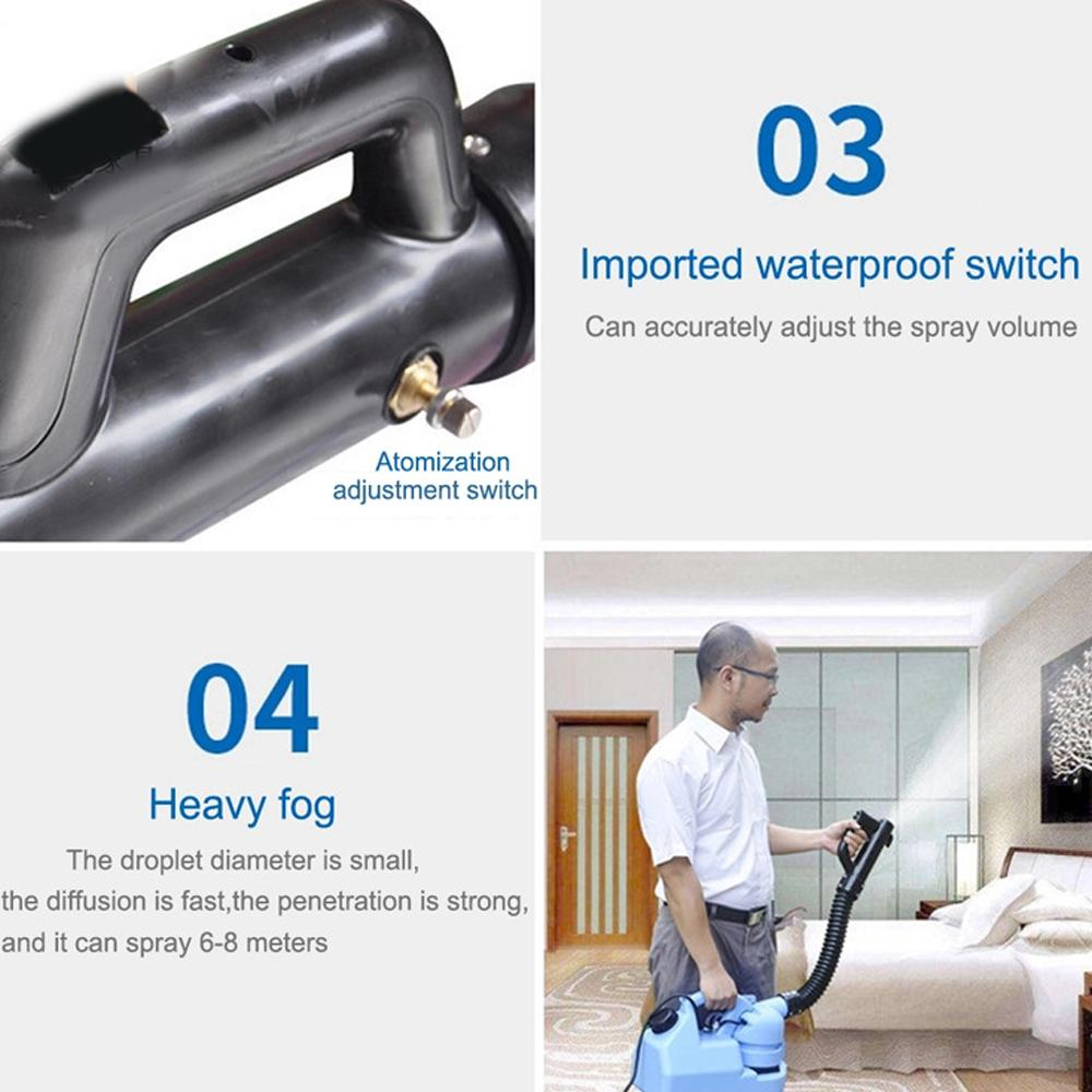 110V/220V 5L 7L Electric ULV Cold Fogger Insecticide Atomizer Ultra Low Capacity Disinfection Sprayer Mosquito Killer Cold Fogger Machine