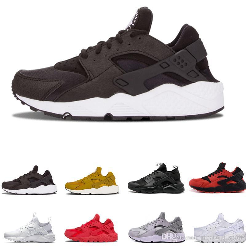 f6bba24863ea5 2018 Huarache 1.0 4.0 Casaul Shoes Men Women Top Quality Stripe ...