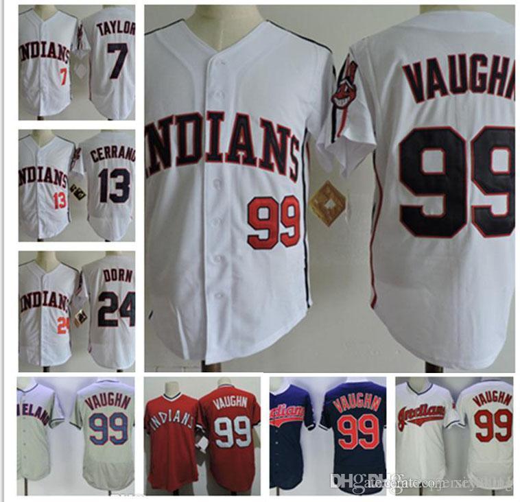 half off 6cf20 daad5 Mens Jersey The Major League II Movie Rick Vaughn Baseball Jersey #13 Pedro  Cerrano #7 Jake Taylor #24 ROGER DORN Film S-3XL