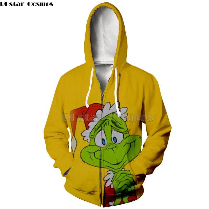Compre PLstar Cosmos Impresión 3D Nueva Película Popular Grinch Harajuku  Streetwear Zip Sudadera Con Capucha   Sudadera Feliz Navidad Hombres Mujeres  Kawaii ... 9bc38242888