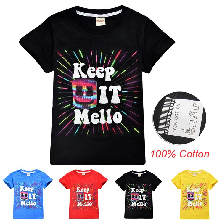 78d11d17b DJ Marshmello Printed Kids T-shirts 6-14t Kids Boys Girls 100 ...