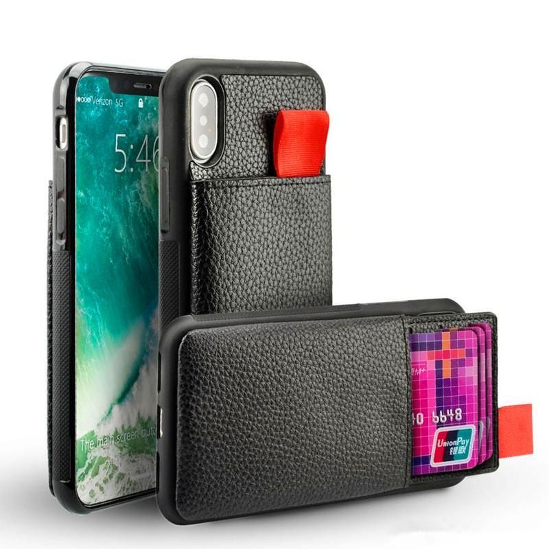 check out 4f0ad 54550 For iPhone X 7 Wallet Case Shockproof Leather Pouch Credit Card Holder &  Hidden TPU RFID Blocking For iphone 8 6 Plus Cover Pocket