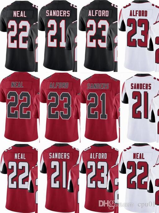 aa96795e89a Atlanta Falcons Custom Men youth women  21 Deion Sanders 22 Keanu ...