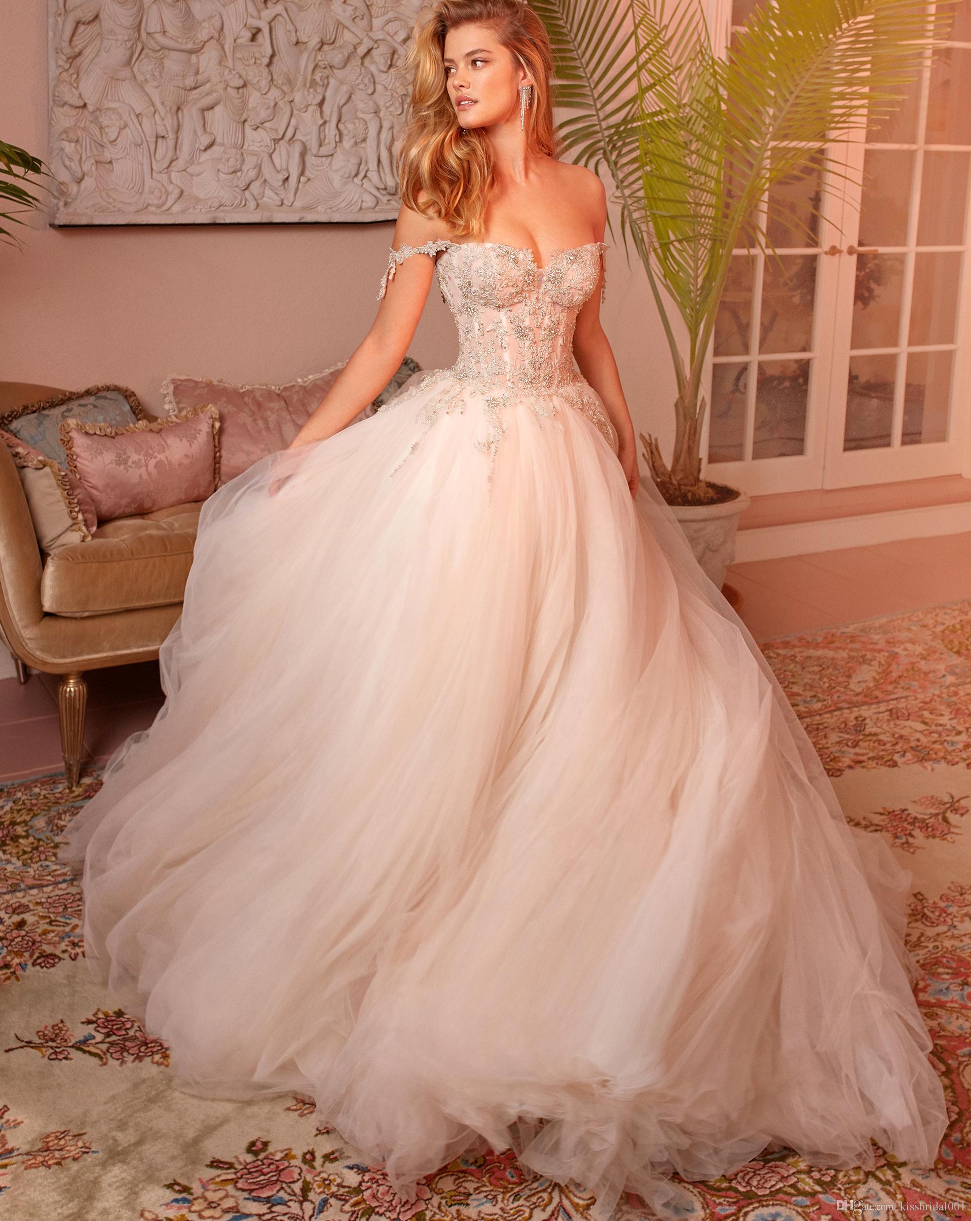 8f918778ffe Discount Off The Shoulder Corset Wedding Dresses Vestido De Novia Beaded Lace  Wedding Dress Tulle Bridal Gowns A Line Wedding Dresses Sweetheart Neckline  A ...