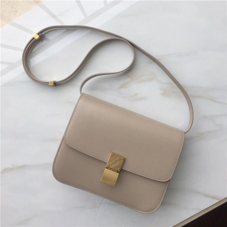 Charm2019 Bag Paragraph Bean Curd Box Small Square Cowhide Cool Time Single Shoulder Skew Airline Stewardess Package