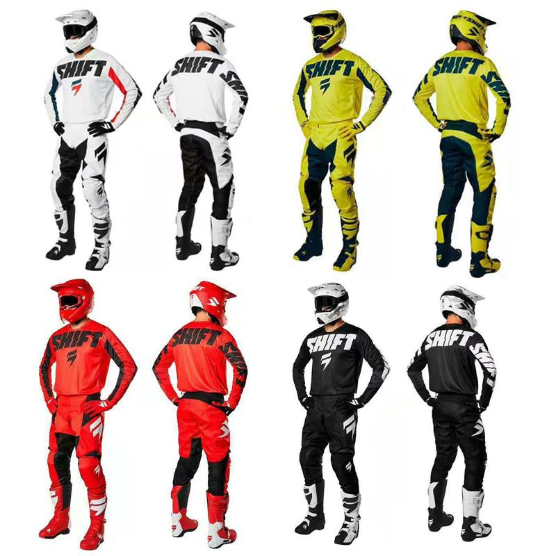 2019 Novo Atacado Shift MX WHIT York Jersey Calça Gear Combo - Dirt Bike Off-Road MX ADULT J
