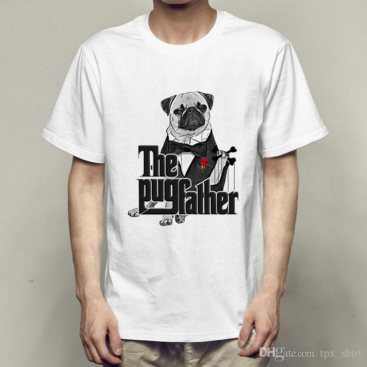 d32c044c9 Godfather T Shirt The Pug Father Short Sleeve Gown Funny Dog Style Tees  Fastness Printing Clothing Quality Modal Tshirt T Shirt With Online Shop T  Shirt ...