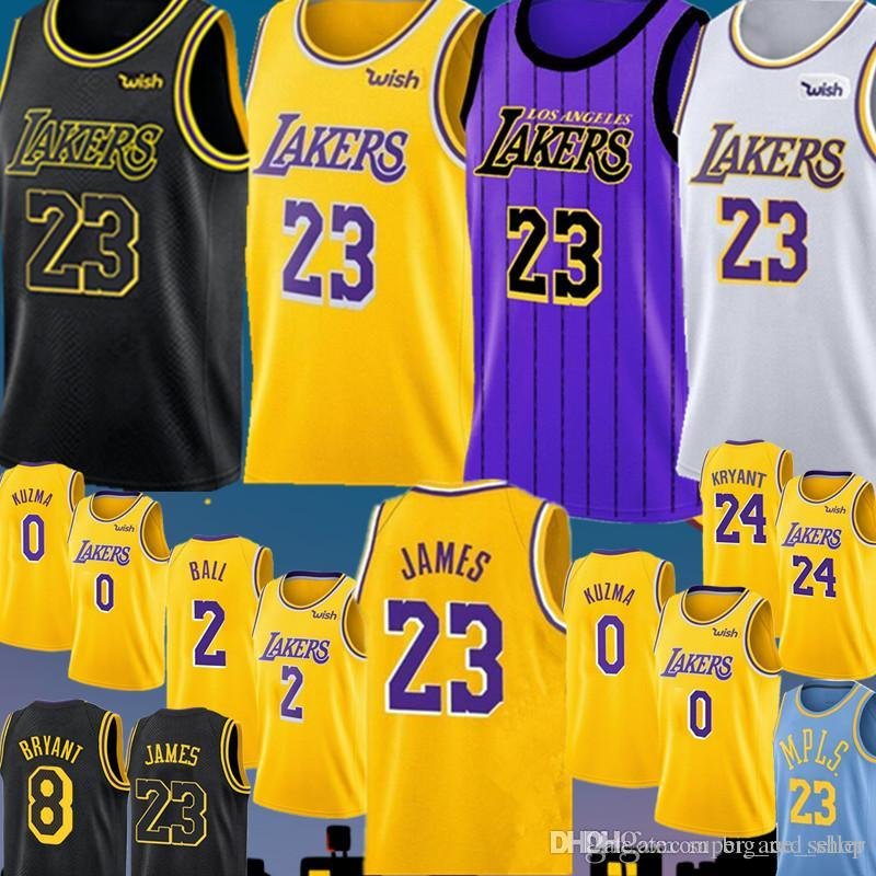 500340be430d 2019 23 LeBron James Los Angeles Laker Jersey New Lonzo 2 Ball Kyle 0 Kuzma  Brandon 14 Ingram Embroidery Basketball Jerseys Cheap Sales From  Big red shop