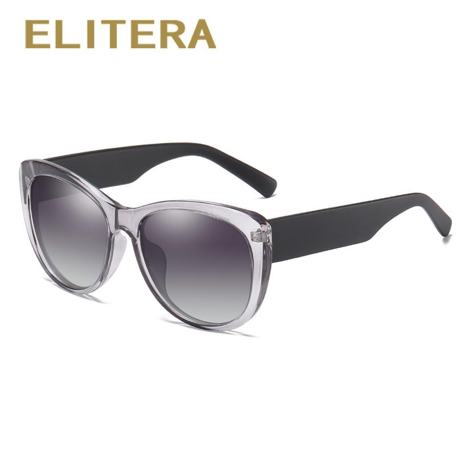 1e70b6f7cba ELITERA Women Polarized Sunglasses Wide Frame With Colorful Lens UV  Protection Eyewear Round Glasses Designer Glasses From Huteng