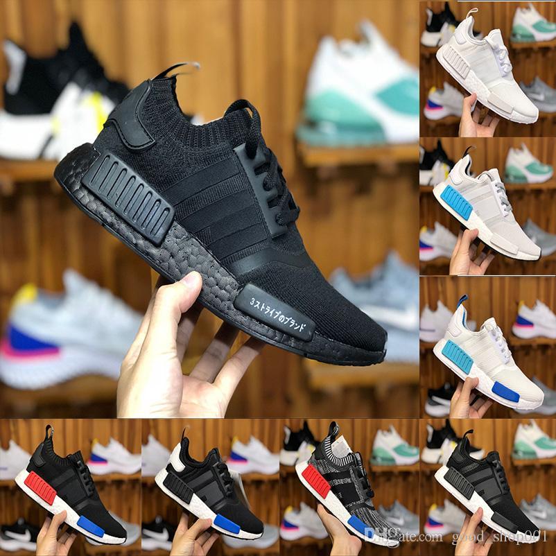 brand new c73b9 8ac80 Classic NMD Runner R1 pk og japan Triple Black white Men Women Running  Shoes Sneaker nmd Runner Primeknit mens trainer sports Shoes 2018