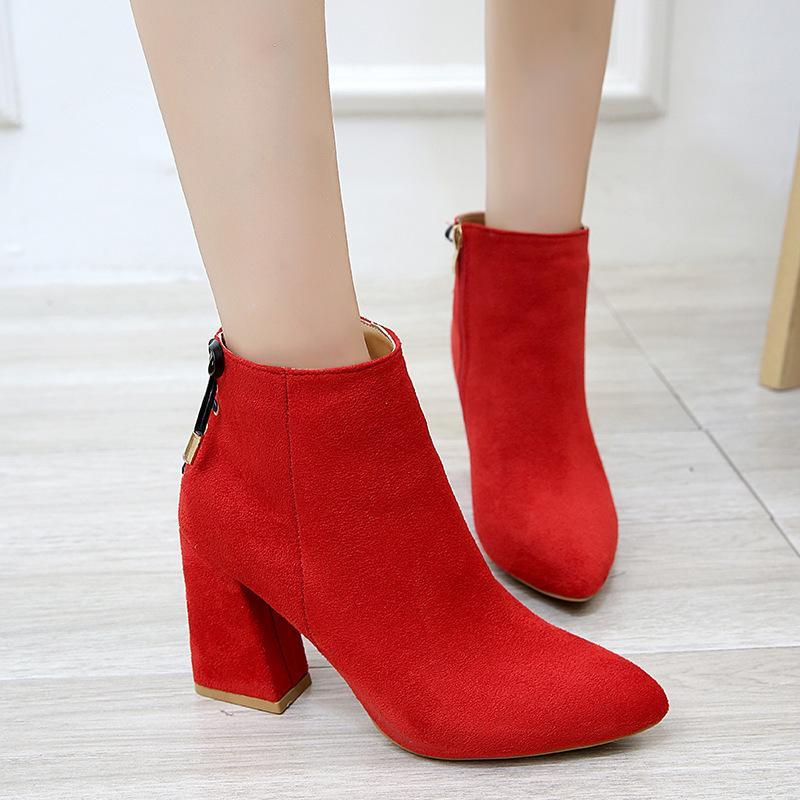 c756998c Compre 2019 Moda Pajarita Botines Zapatos De Mujer Otoño Invierno Tacones  Gruesos Martin Botas Zapatos De Mujer Casual Señora A $40.24 Del Conglan |  DHgate.