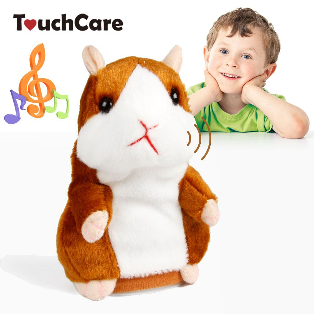 plush toys Touchcare 15CM Talking Hamster Mouse Pet Plush Toy Learn To Speak Electric Record Hamster Educational Children Stuffed Toys Gift
