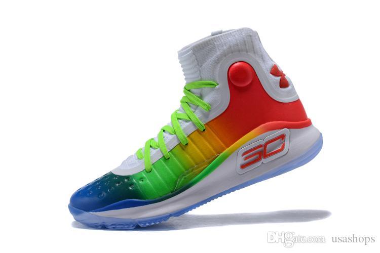 97d08c1d7add 2019 4s Men Currys Basketball Shoes 4 Gold Championship MVP Finals ...