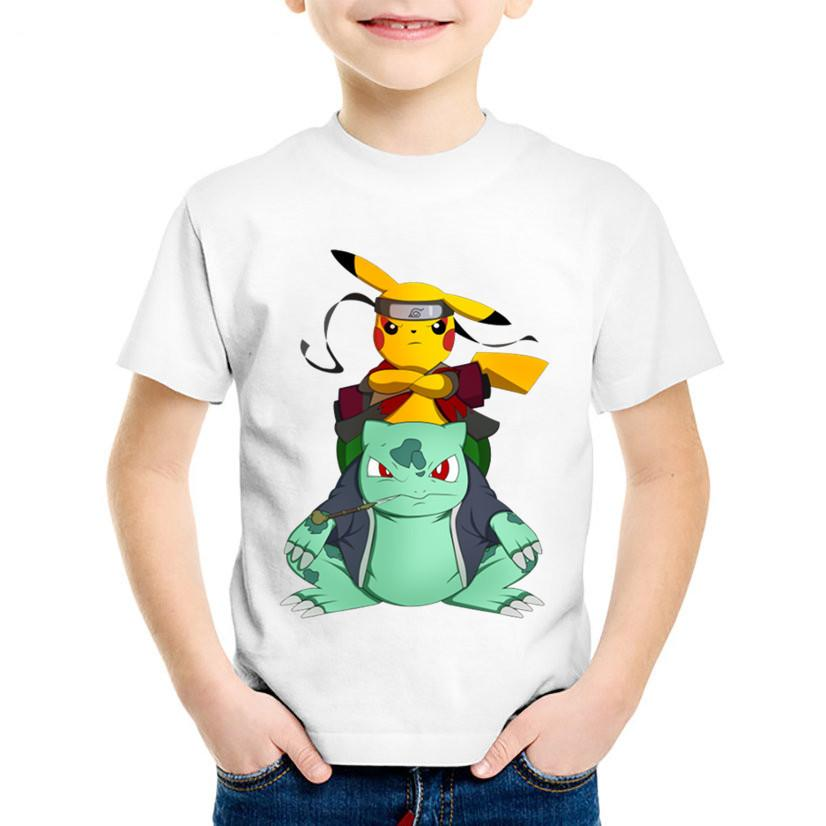 44c1de77 2019 Children Anime Print Naruto Pikachu In Thor Armo Funny T Shirts Kids  Summer Tees Boys/Girls Good Go Tops Baby Clothes,HKP5069 From Victorys07,  ...