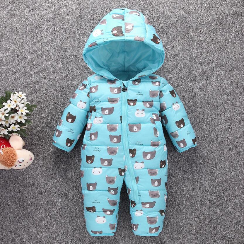 764815ca8eee Warm Baby Romper Boys Snowsuit Polyester Baby Winter Romper Hoodies ...
