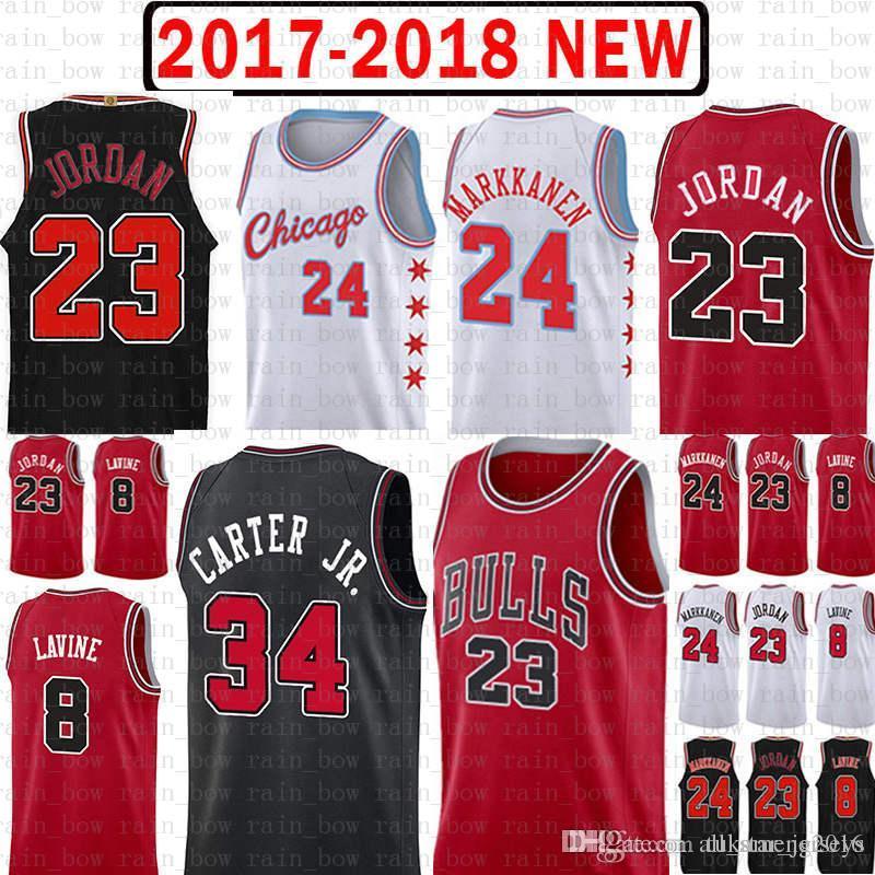 76e99fff085a Chicago Jersey Bulls 23 Michael Zach 8 LaVine Lauri 24 Markkanen Wendell 34  Carter Jr. 2019 New Mesh Retro UK 2019 From Tukameng2016