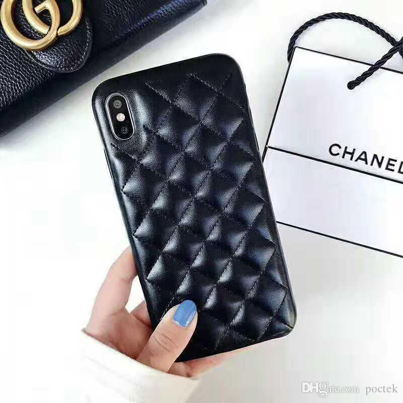 cheap for discount b6bdf eb1d3 New Arrival Lambskin Leather Protective Back Cover for IPhone XS Max XR  Luxury Brand Shockproof Phone Case for IPhone 8 7 6 Plus Lambskin Leather  Protective ...
