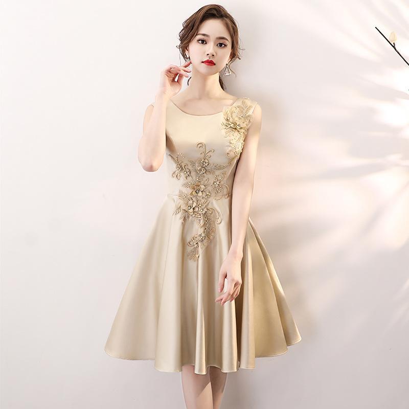 061d7c758c26 Nuevos vestidos de noche elegantes de los granos 2019 Banquete corto  Anfitrión vestido de fiesta Vestidos formales Vestidos de noche Fiesta de  ...