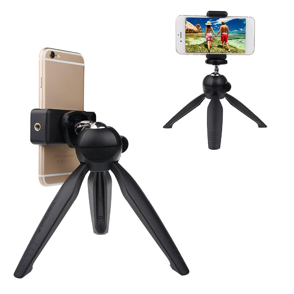 Mini Tripod+Phone Holder Clip Desktop Tripod For SLR/Digital Camera Mobile Phone Sport Action DV with Retail Box