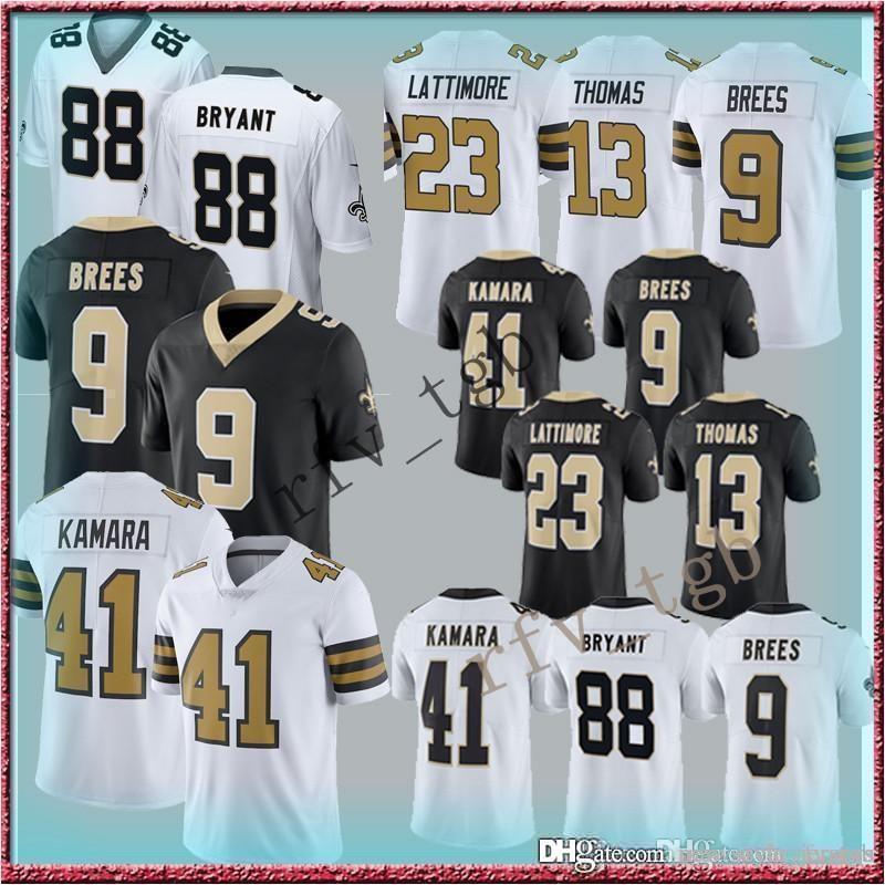 fb4ae4f5 2019 9 Drew Brees 13 Michael Thomas New Orleans Jerseys Saints 41 Alvin  Kamara Jersey 23 Marshon Lattimore 28 Adrian Peterson 88 Dez Bryant From ...