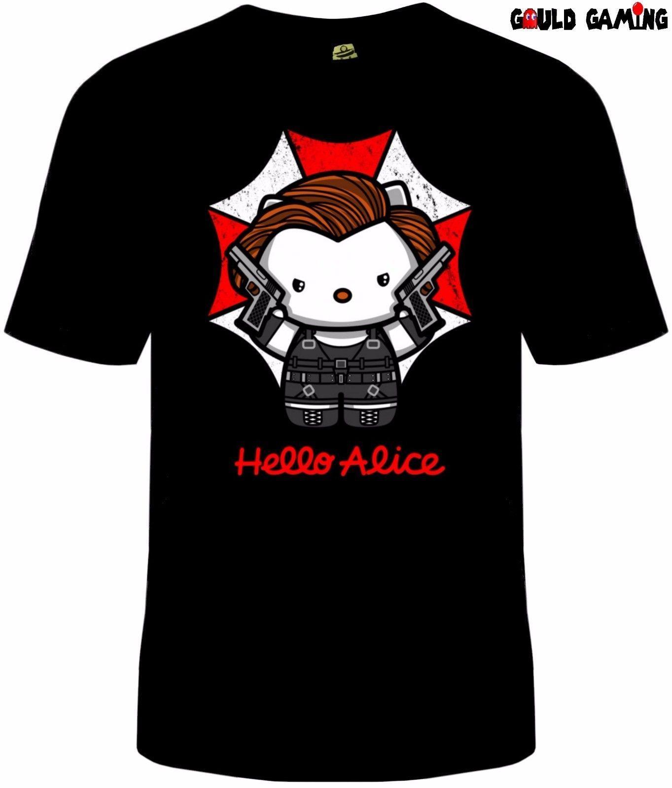 Acheter Resident Evil T Shirt Hello Kitty Unisexe Parapluie