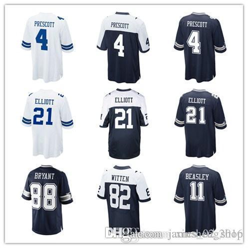 7c7584bc3df 2019 2016 Kids Youth NIK Game Football Cowboys Jersey 4 Dak Prescott 21  Elliott 11 Beasley 88 Dez Bryant Cheap Dallas Thanksgiving White Jerseys  From ...