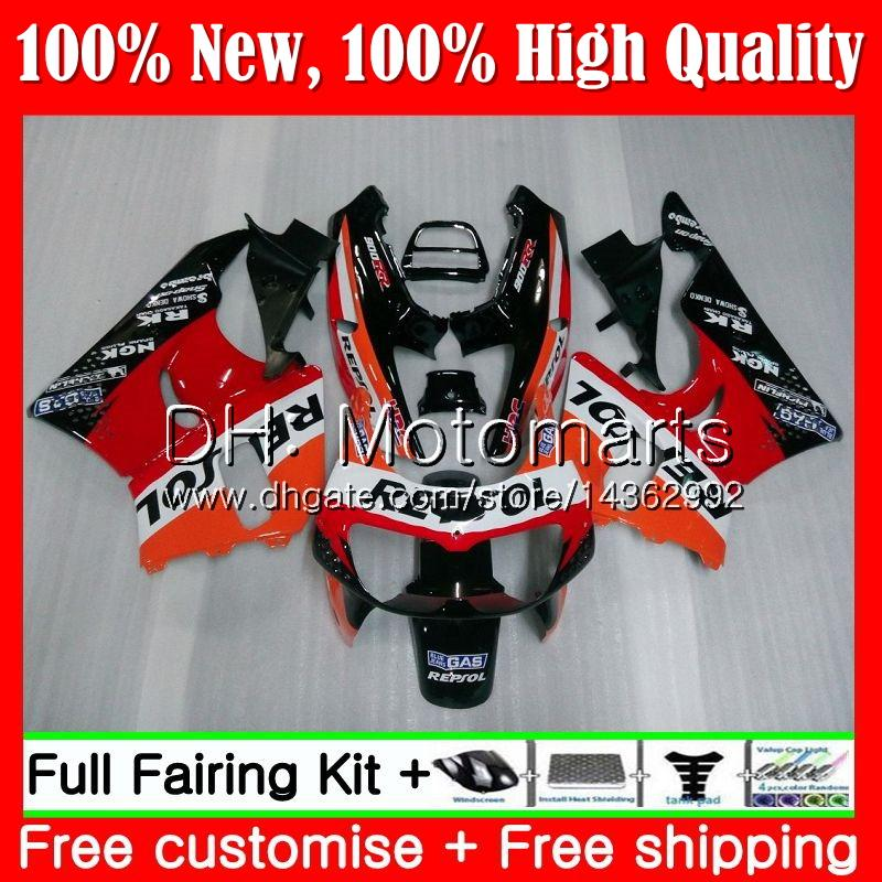 Repsol orange Body For HONDA CBR 893RR CBR900RR CBR893RR 89 90 91 92 93 70MT1 CBR900 CBR893 RR 1989 1990 1991 1992 1993 Fairing Bodywork
