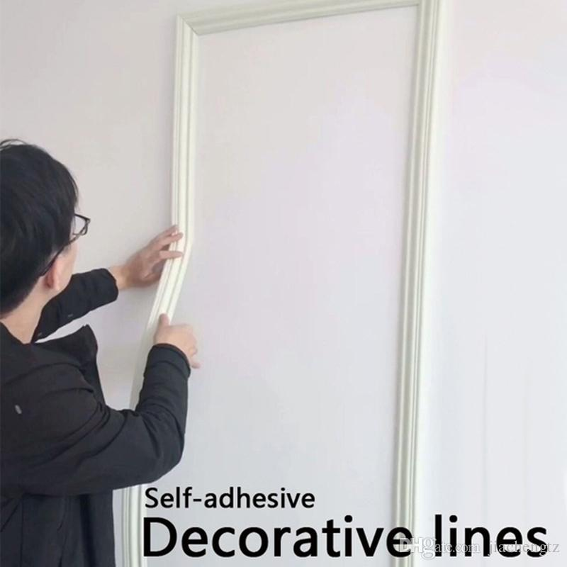 Skirting Line 3D Self-adhesive Corner Line Waist Line Bedroom Living room Background Wall Baseboard Mural Border Lines Home Decor